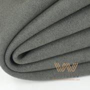 Black Alcantara Leather Automotive Upholstery Fabric