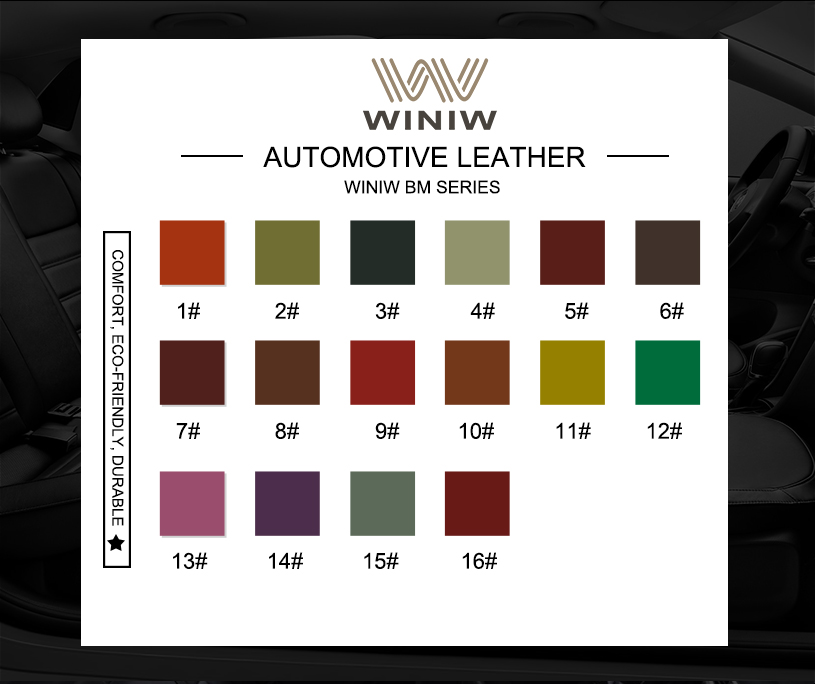 Faux Leather Auto Upholstery Material
