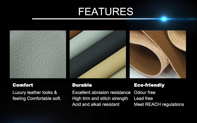Faux Leather Car Upholstery Fabric