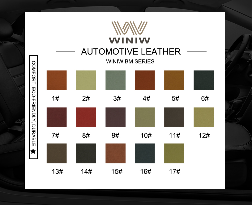 Car Leather Upholstery Fabric 11