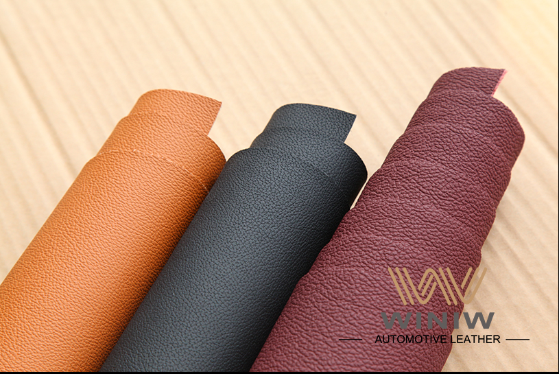Durable Upholstery Leather Fabric 10