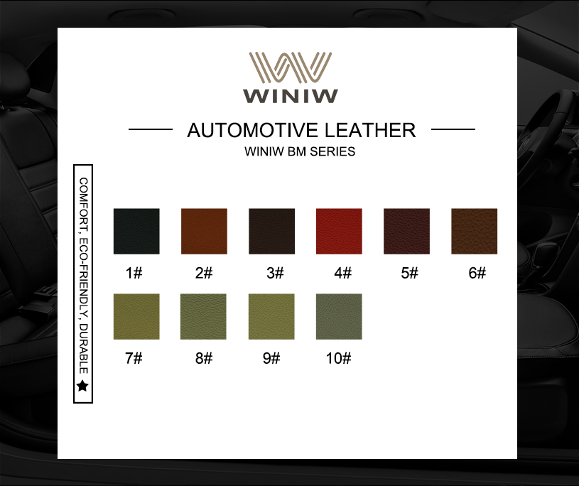Durable Upholstery Leather Fabric 11