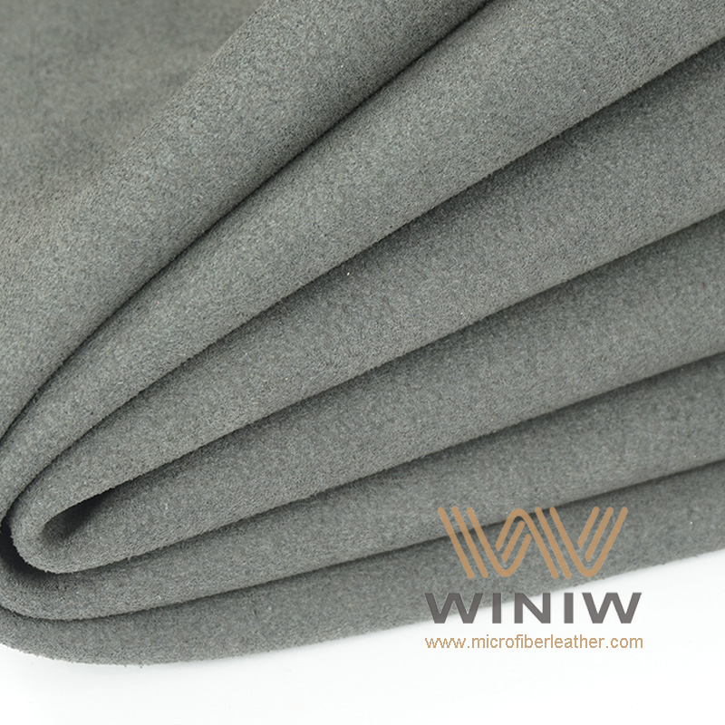 Black Alcantara Automotive Upholstery Fabric