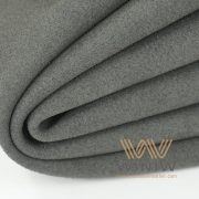 Black Alcantara Leather Automotive Upholstery Fabric