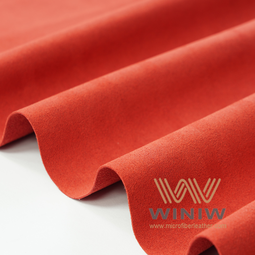 Wine Red Alcantara Fabric Suede Car Seat Material