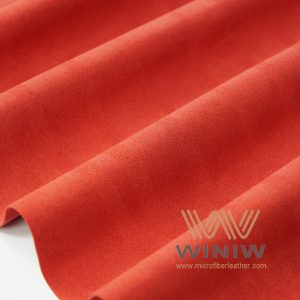 Wine Red Alcantara Fabric Equivalent Suede Car Seat Material